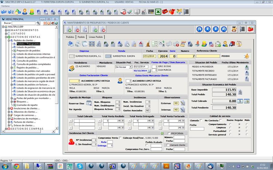 sofware gestion ferreterias: